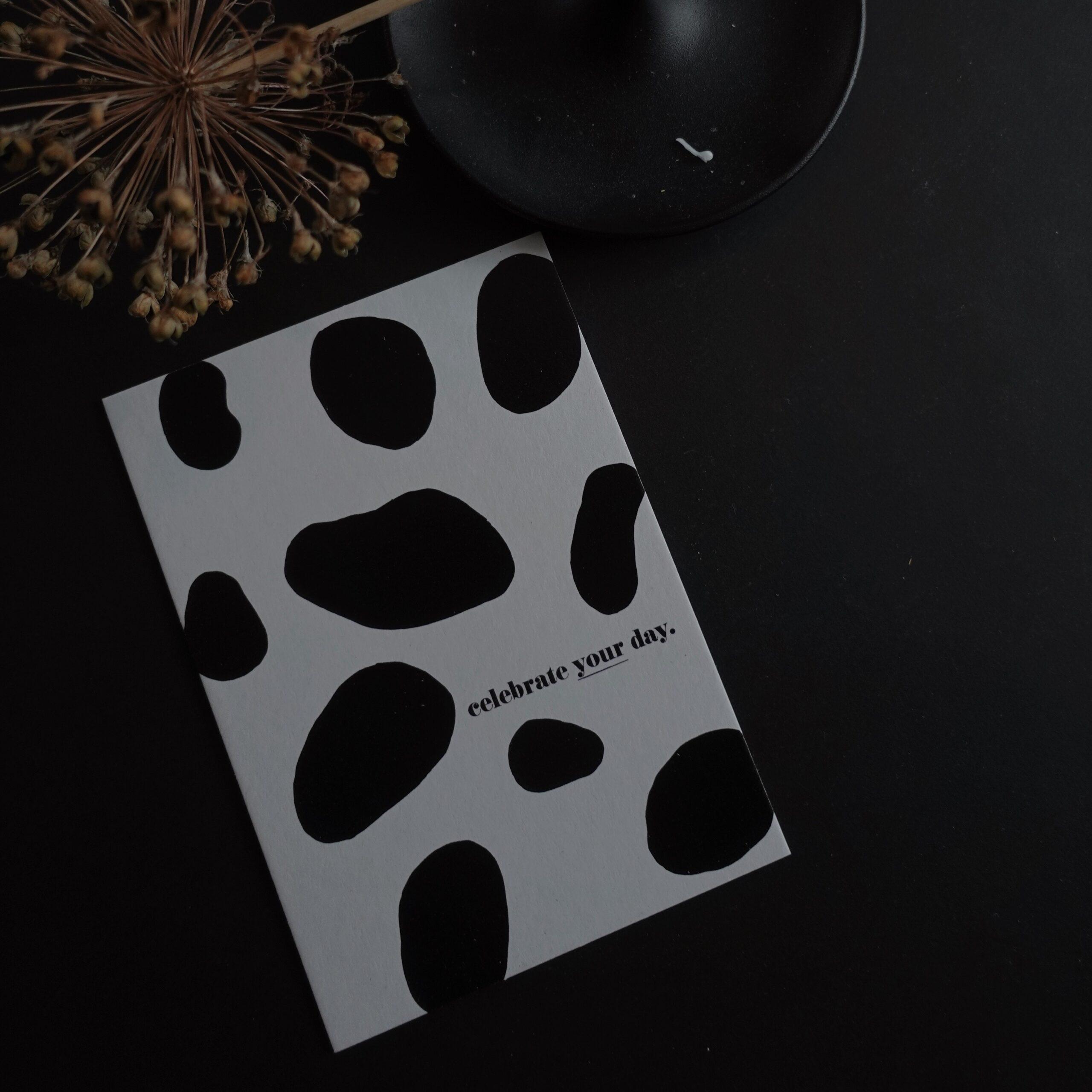 karton-postkarte celebrate your day